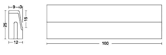 Albet – Wymiary Krawężnik 12 x 25 x 100 cm