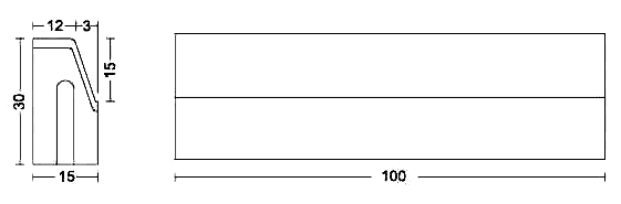 Albet – Wymiary Krawężnik 15 x 30 x 100 cm