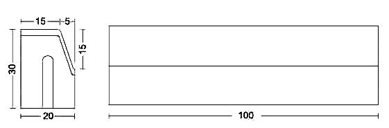 Albet – Wymiary Krawężnik 20 x 30 x 100 cm