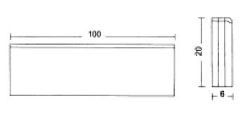 Albet – Wymiary Obrzeże 6 x 20 x 100 cm