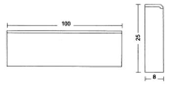 Albet – Wymiary Obrzeże 8 x 25 x 100 cm