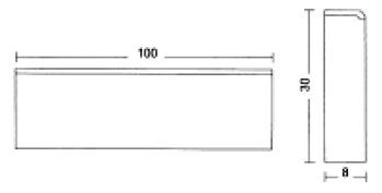Albet – Wymiary Obrzeże 8 x 30 x 100 cm