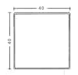 Albet – Wymiary Płyta chodnikowa 40 x 40 cm